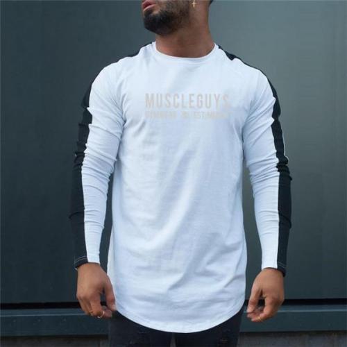 Casual Stylish Slim Print Long Sleeve Men Top