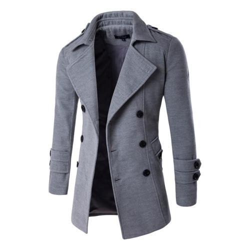 Men Wool Blends Coats Autumn Winter New Solid Color High Quality Men's Wool Coats Luxurious Wool Blends Coat Male