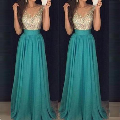 Elegant Sexy Sequined Evening Dress