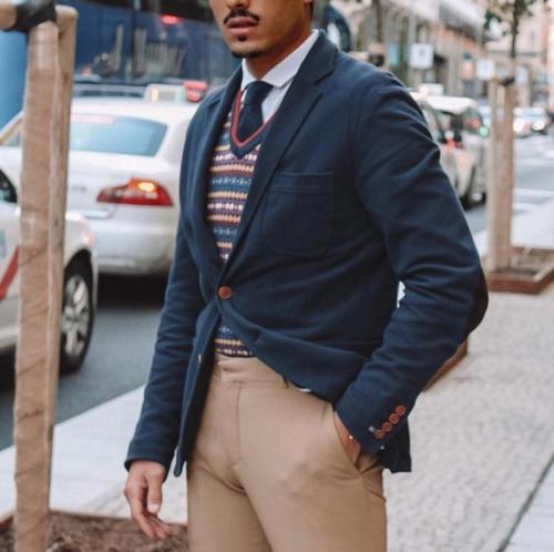 Fashion Solid Color Two Button Blazer