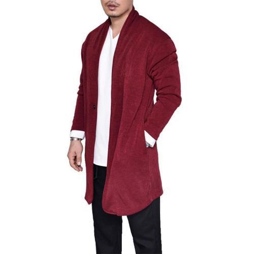 Fashion Plain Winter Knit Long Coat