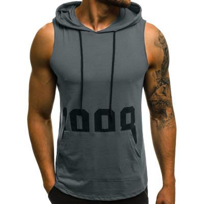 Brand Gym Tank Top Men Sport Running Vest Compression Tights Mens Sleeveless Shirt Hooded Undershirt Training Vest With Zipper