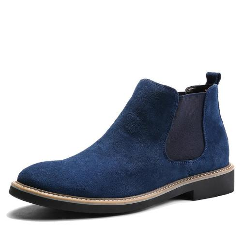 Men Suede Leather Boots High Quality Male Ankle Boots Man Shoes Ankle Boot Men's Snow Shoe Casual Slip On Shoes Drop Shipping