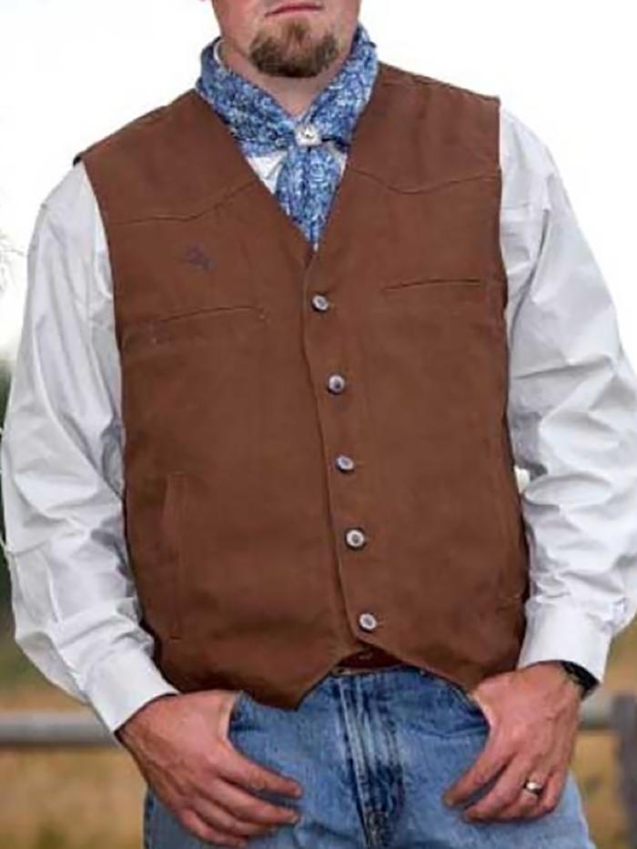 Men's casual minimalist solid color vest