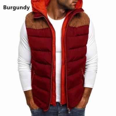 Winter Coat Vest Men Warm Sleeveless Jacket Casual Waistcoat Cotton Vest Hooded Coat 5xl 4xlSize Duck Down Jacket Men Vest S-5XL