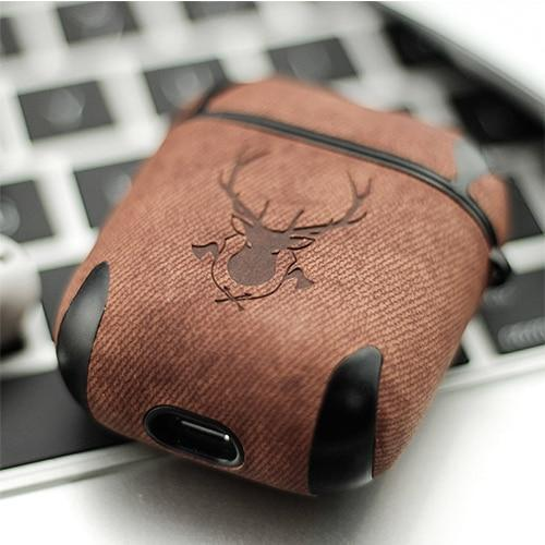 Luxury Leather Deer AirPods Case Protective Cover