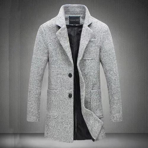 Newest Long Woollen overcoat For Men Winter Fashion Trench Coat Thicken Male Jacket Coat Plus Size