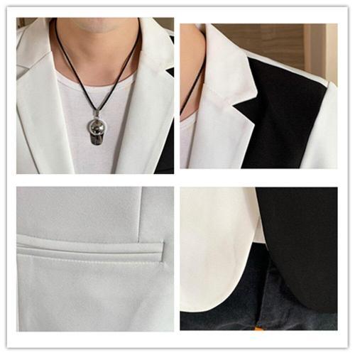Blazer Men 2020 Spring and Autumn New Fashion Trend High Quality Men Splice Single Button Slimming Blazer for Men