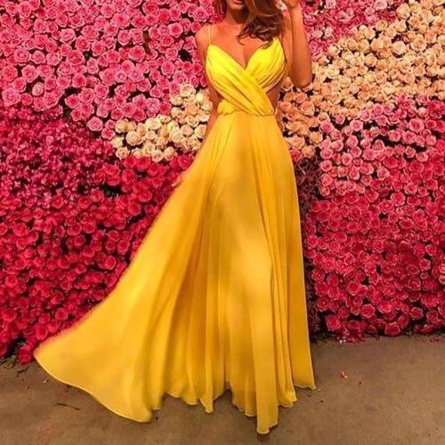 Sexy Sling V Neck Sleeveless Dress