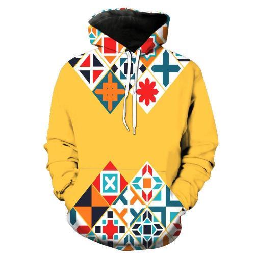 Digital Printed Pocket Hooded  Men's Hoodie