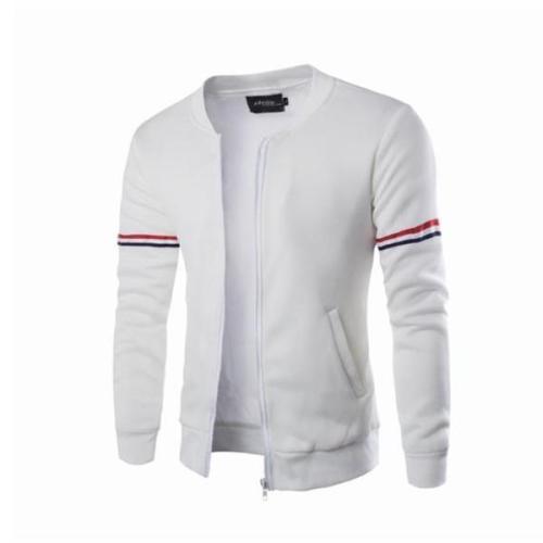Fashion Casual Slim Strip Long Sleeve Men Sport Outerwear