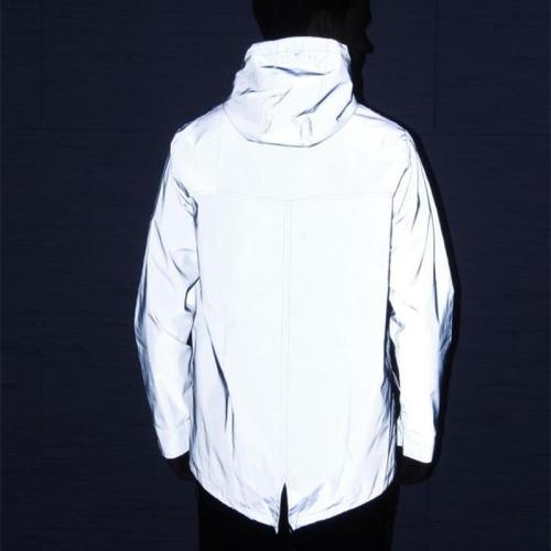 Newest Men 3M Reflective Trench Jacket Coat Man Night Full Reflect Light Hip Hop Long Coats Women Streetwear Swallowtail Jackets
