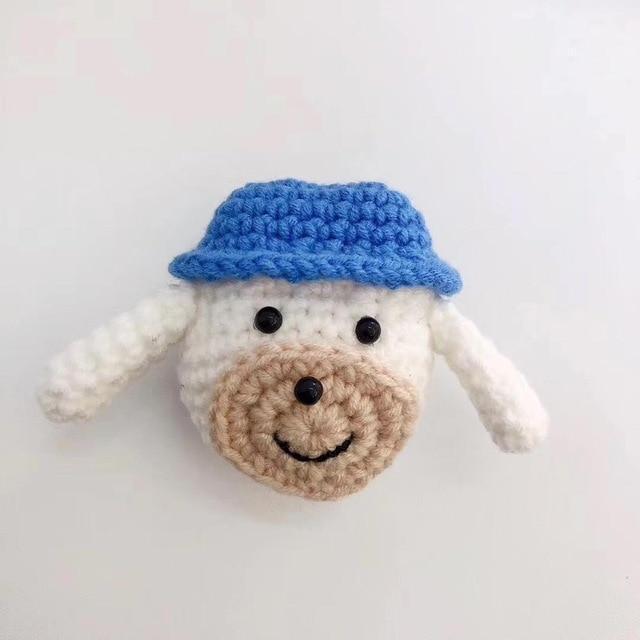 Kawaii Dog Handmade Knitted Plush Doll Winter AirPod Case