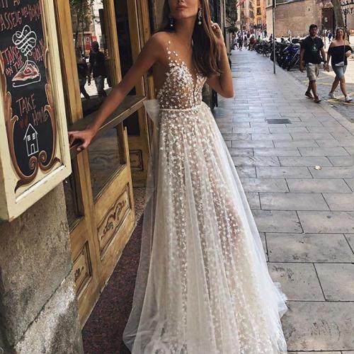 Sexy V-Neck Perspective Dress