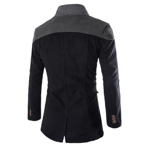 Men Jacket Warm Winter Brand Men Wool Blends Coats Solid Color With Scarf Men's Wool Overcoat Male Casual Wool Coat Outwear