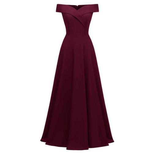 high quality Party Dresses Elegant Plus Size evening dress Off Shoulder evening gown Fashion Retro Long Evening Dress