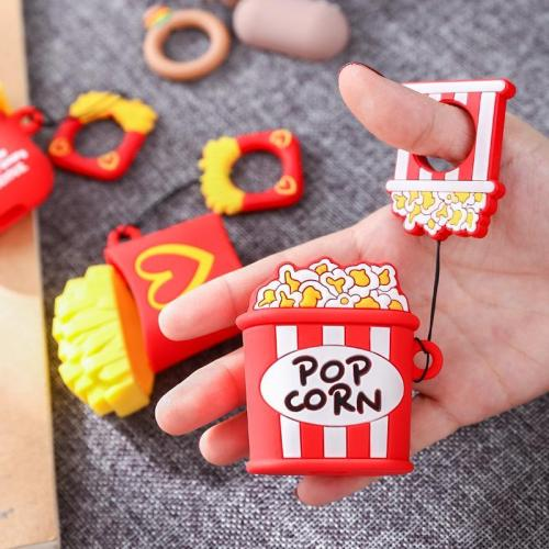 3D Funny Food Popcorn AirPods Charging Case