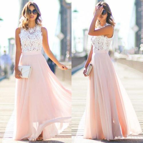 Women Sexy Summer Dress Boho Maxi Long Patchwork Sleeveless Party Beach Dress Sundress Women Clothing