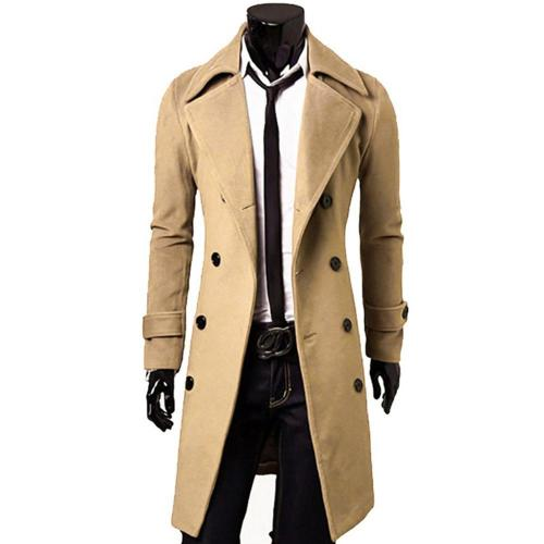 2020 New Arrivals Autumn Winter Trench Coat Men Brand Clothing Cool Mens Long Coat Top Quality Cotton Male Overcoat
