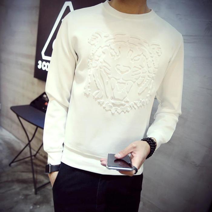 Casual Men's Fashion Trend Slim 3d Three-Dimensional Animal Prints