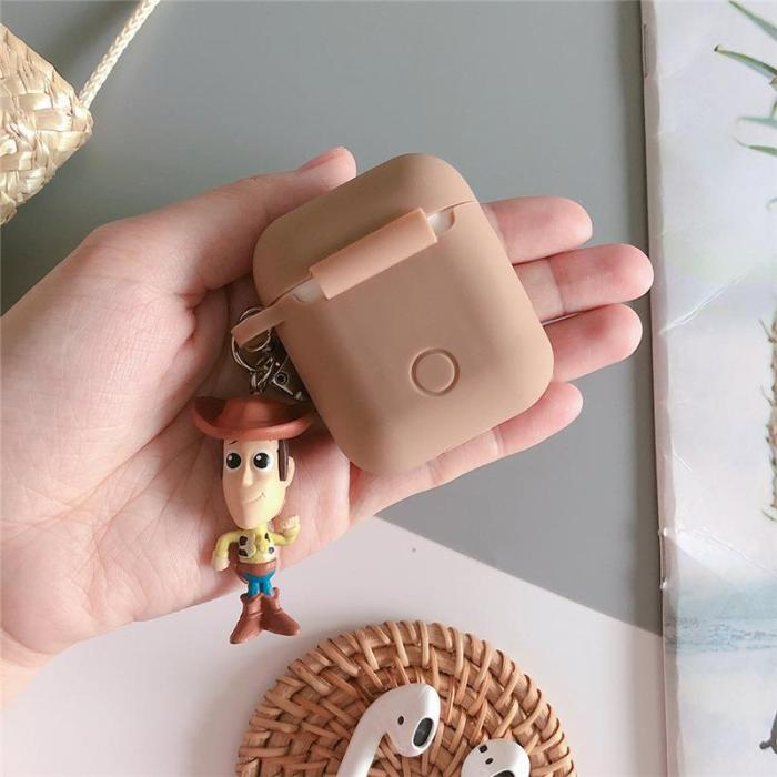 Toy Story 4 Woody Buzz Lightyear 3D Silicone AirPod Case Cover with Doll