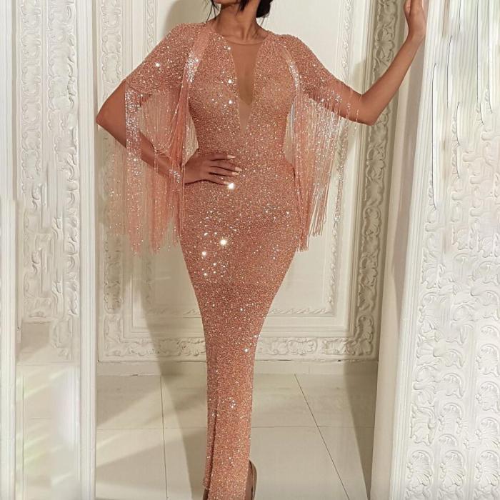 Womens Sexy Shiny Sequin Bodycon Dress