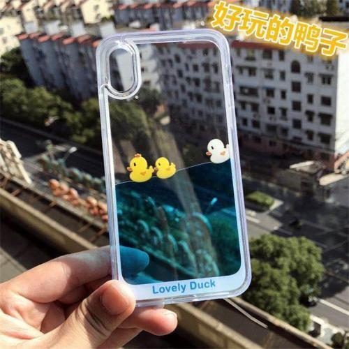 Running Water Swimming Duck Phone Case For iphone