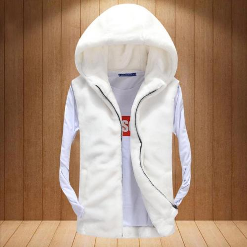 Fashion Casual Loose Plain Zipper Vest