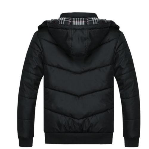 Casual Stylish Plain Thermal Long Sleeve Mens Coat Outerwear