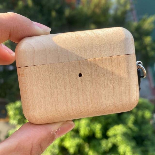Natural Solid Wood AirPods Pro Case Shock Proof Cover