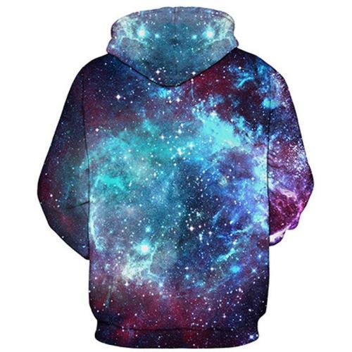 3D Galaxy Hoodie Unisex Casual Sweatshirt Hoodie
