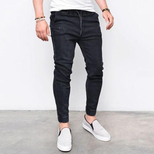 Drawstring Waist Skinny Jeans