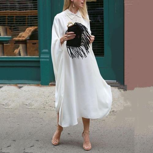 Women's Simple Elegant Solid Color Loose Dress