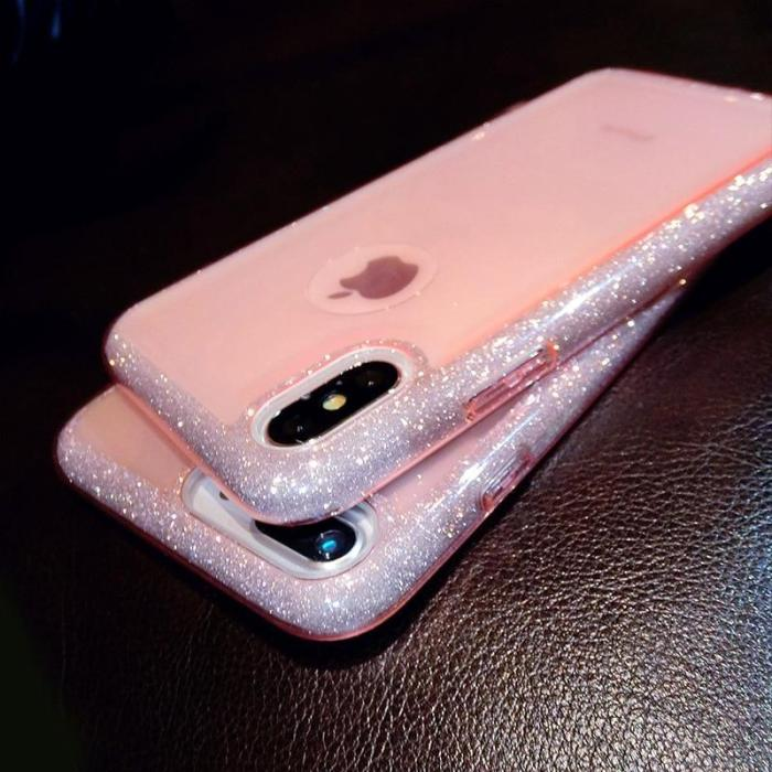 Glitter Sparkly Transparent Soft TPU Case For iPhone X XS XR XS MAX
