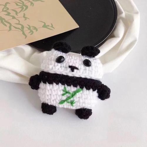 Winter Warm Plush Panda AirPods Pro Case Shock Proof Cover