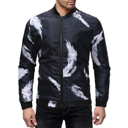 Notely Feather Printed Jacket