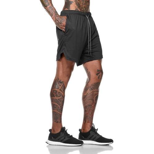 2020 Summer 2 in 1 Shorts Sports Quick Dry Jogging Fitness Shorts Men Training Workout Mens Gym Men Shorts Gym Short