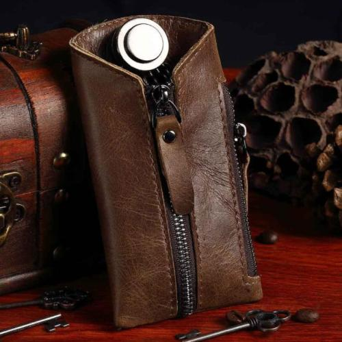 Fashion small leather car key case
