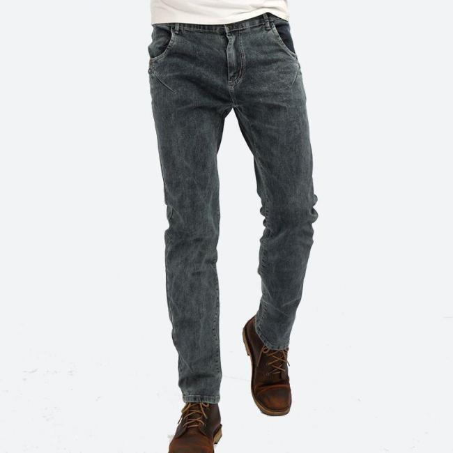 Men's stretch slim smoke gray denim pants