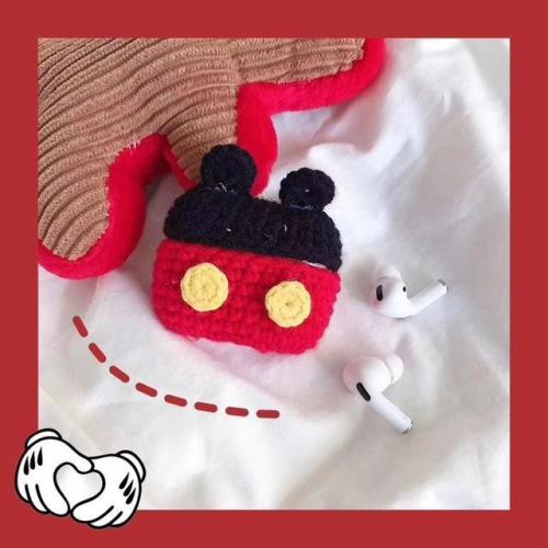 Winter Warm Plush Cartoon Mouse AirPods Pro Case Shock Proof Cover