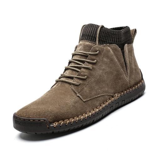 Men Boots New Lace UP Men shoes Non-slip Wearable Large Size Casual Shoes Plus Retro Trend Men's Fashion Boots 2019