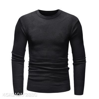 Casual Mens Round Collar Plain Thin Sweater