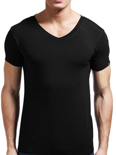 Mens V Neck Basic Tee Sweat Shirt