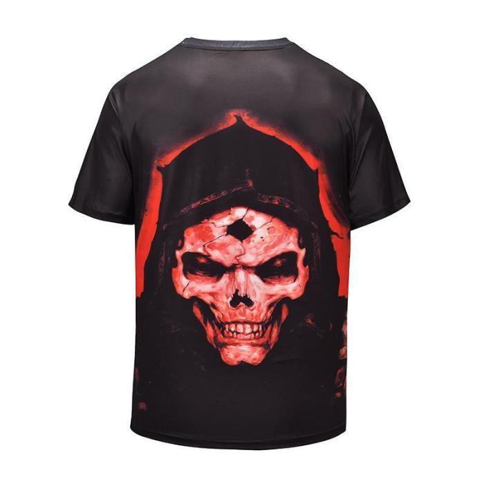 3D Skull Print T-shirt