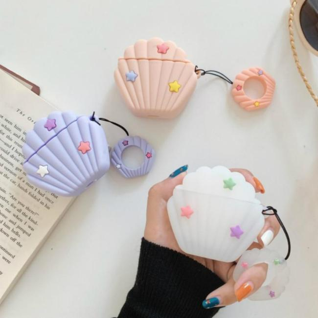 Cartoon Shell AirPods Case Silicone Shockproof Cover