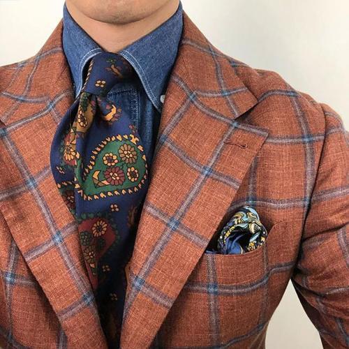 Mens casual floral printed tie