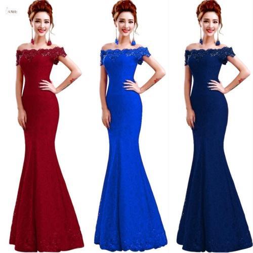 Long Bridesmaid Dresses 2019 Elegant Off The Shoulder Sleeveless Lace Mermaid Wedding Party Gown robe demoiselle d'honneur
