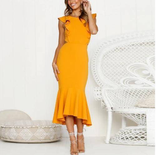 Sleeveless Fishtail Slim Dress