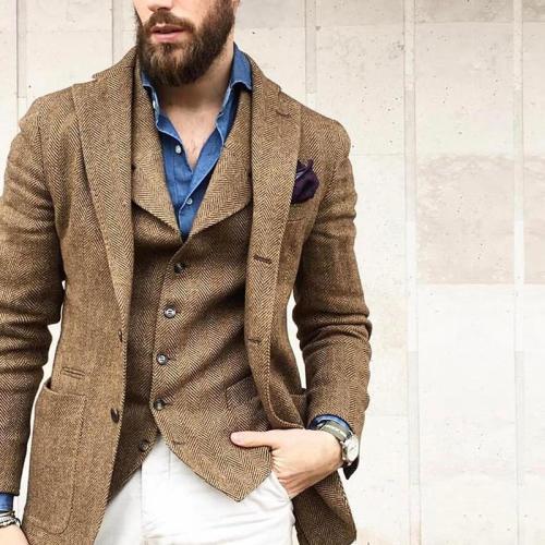 Men's Lapel Solid Color Blazer