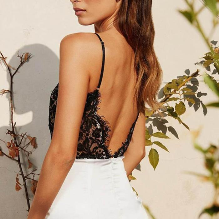 Sexy Slip Lace Backless Bodycon Dress